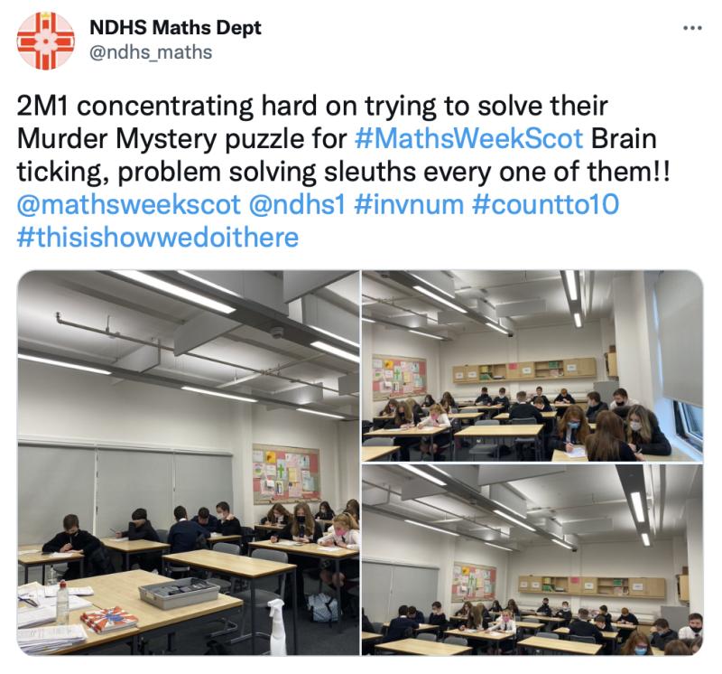 NDHS Maths Murder Mystery